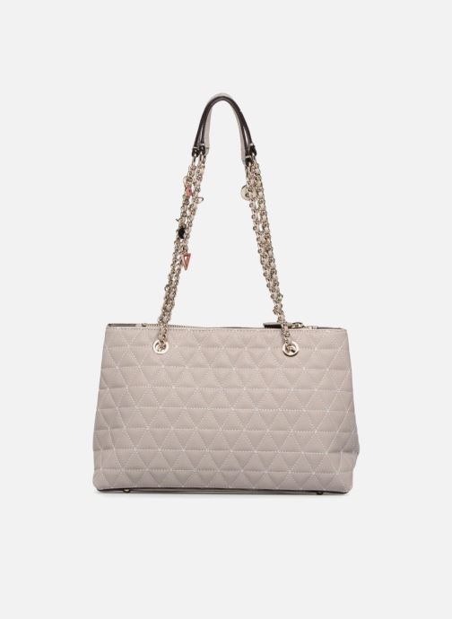 Handtassen Guess Fleur Girlfriend Satchel Beige voorkant