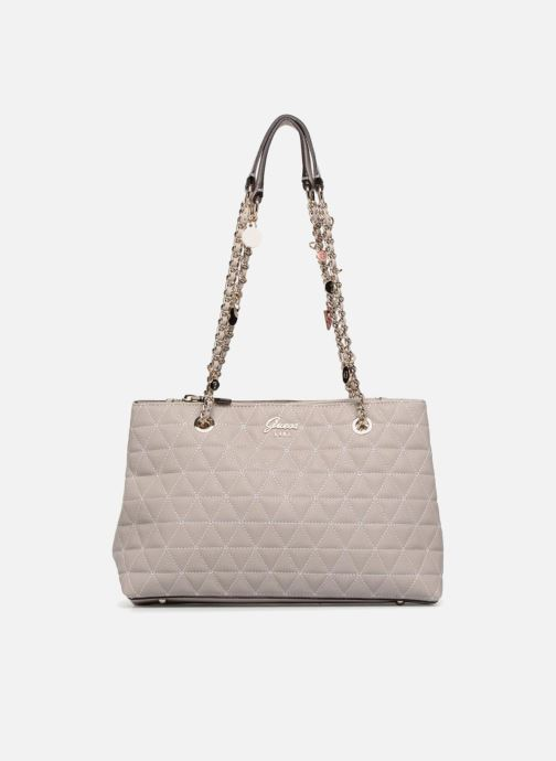 Handtassen Guess Fleur Girlfriend Satchel Beige detail