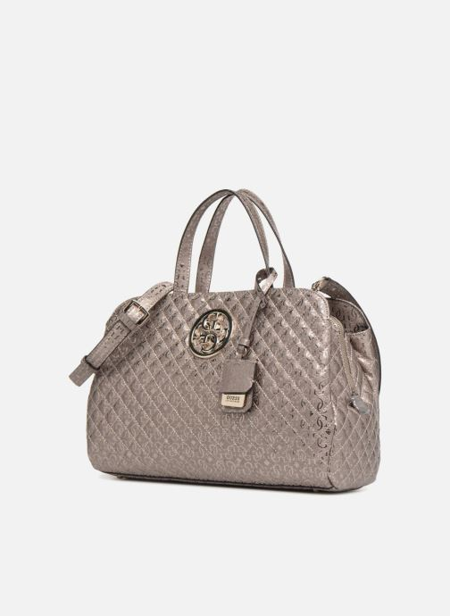 Guess Gioia Girlfriend Satchel (Silver) - Handbags chez Sarenza (335784) 4b2cd29274513