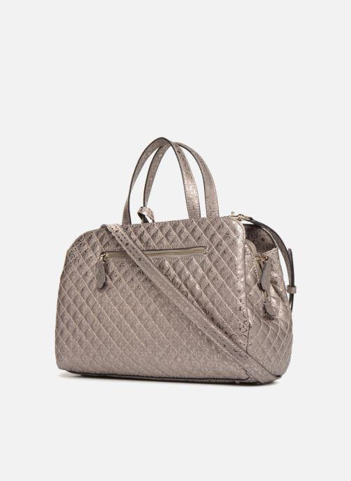 Handtaschen Guess Gioia Girlfriend Satchel silber ansicht von rechts
