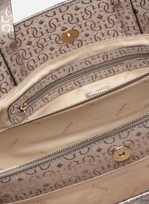Handtaschen Guess Gioia Girlfriend Satchel silber ansicht von hinten
