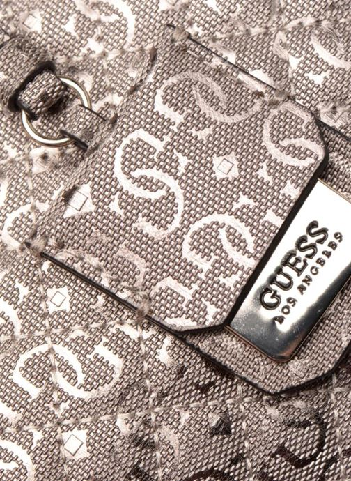 Handtaschen Guess Gioia Girlfriend Satchel silber ansicht von links