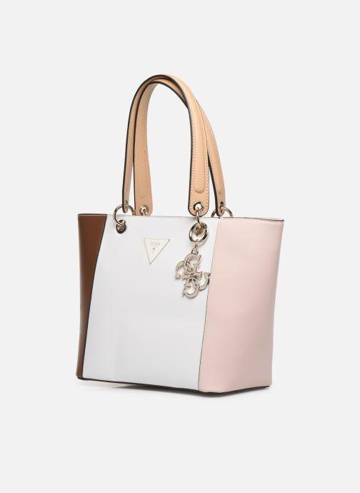 Handtaschen Guess Kamryn Tote weiß schuhe getragen