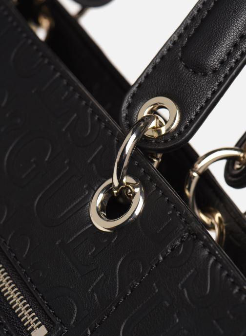 Bolsos de mano Guess Kamryn Tote Negro vista lateral izquierda