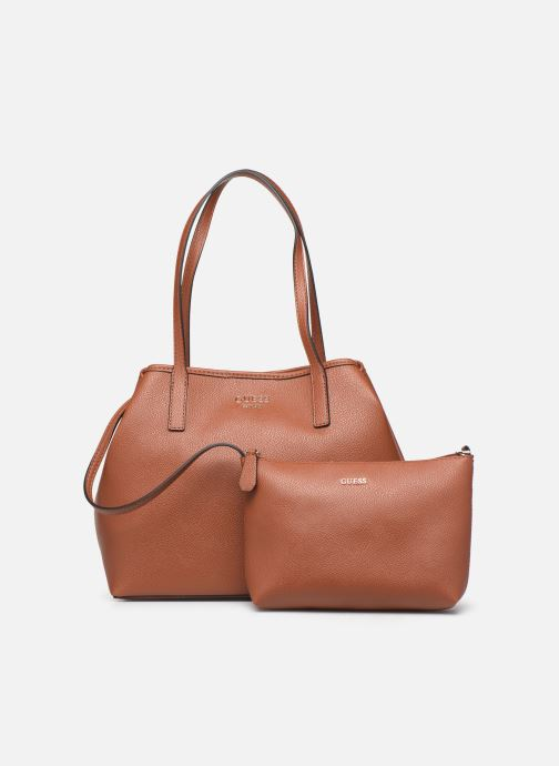 Handtaschen Guess Vikky Tote braun ansicht von links