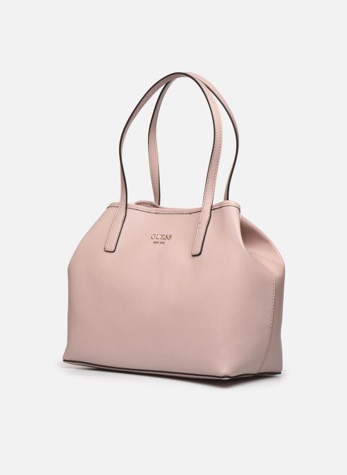 Handtaschen Guess Vikky Tote rosa schuhe getragen