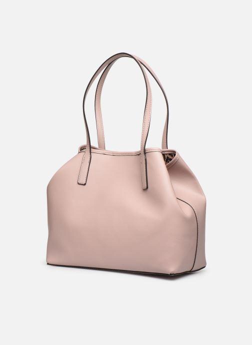 Handtaschen Guess Vikky Tote rosa ansicht von rechts