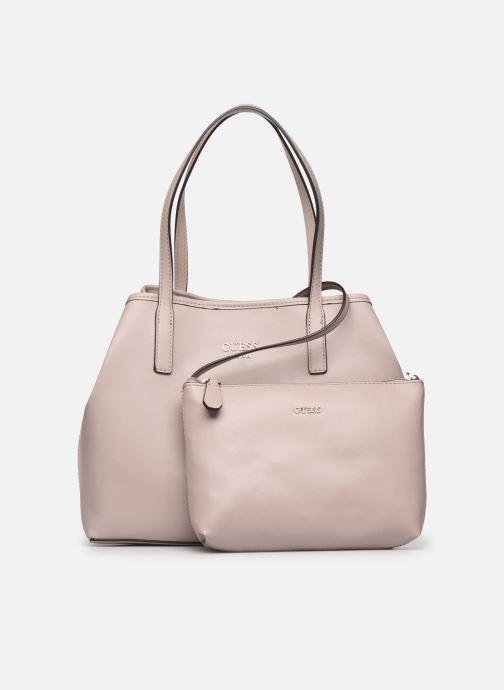 Handtaschen Guess Vikky Tote rosa ansicht von links