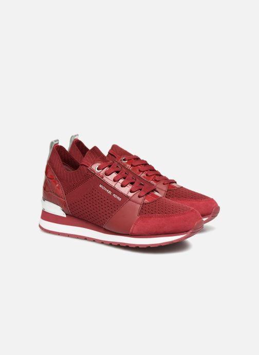 Deportivas Michael Michael Kors Billie Knit Trainer Rojo vista 3/4