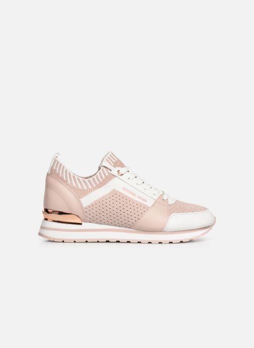 Sneaker Michael Michael Kors Billie Knit Trainer rosa ansicht von hinten