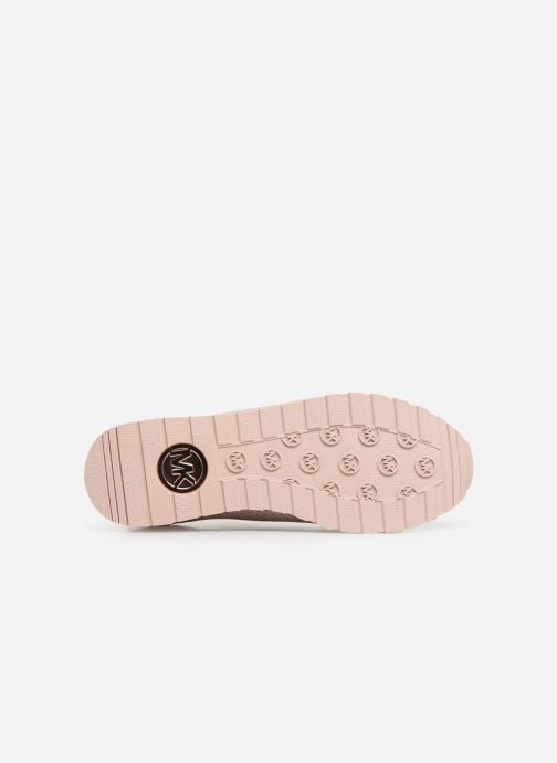Sneaker Michael Michael Kors Billie Knit Trainer rosa ansicht von oben