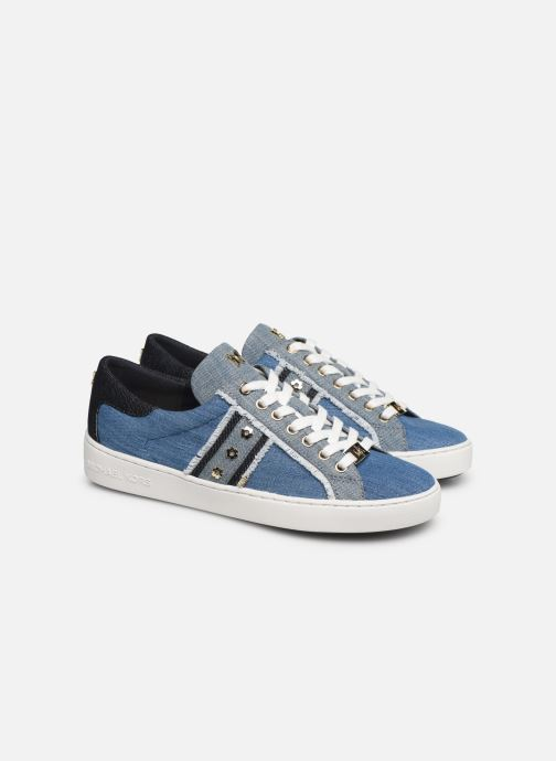 Baskets Michael Michael Kors Keaton Stripe Sneaker Bleu vue 3/4