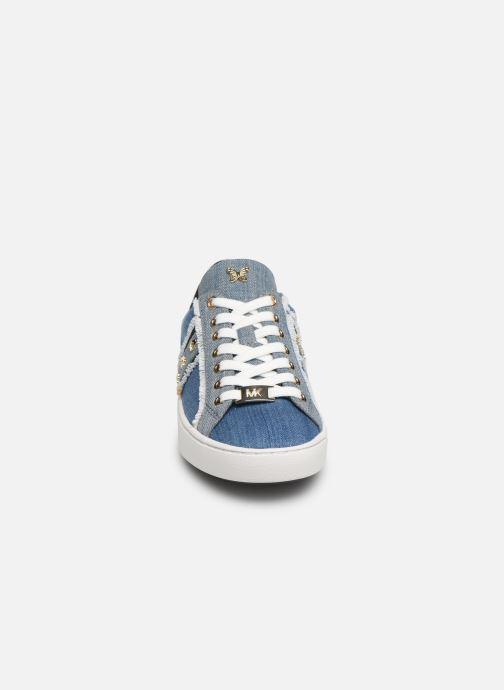 Baskets Michael Michael Kors Keaton Stripe Sneaker Bleu vue portées chaussures