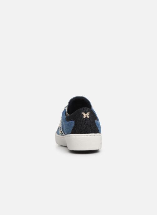 Baskets Michael Michael Kors Keaton Stripe Sneaker Bleu vue droite