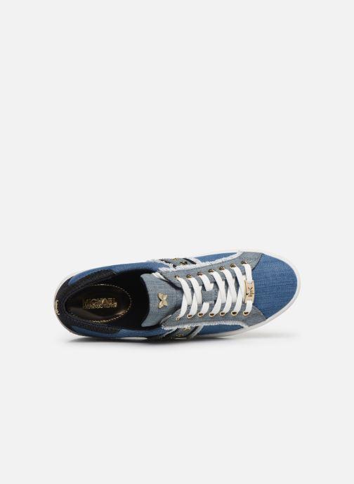 Baskets Michael Michael Kors Keaton Stripe Sneaker Bleu vue gauche