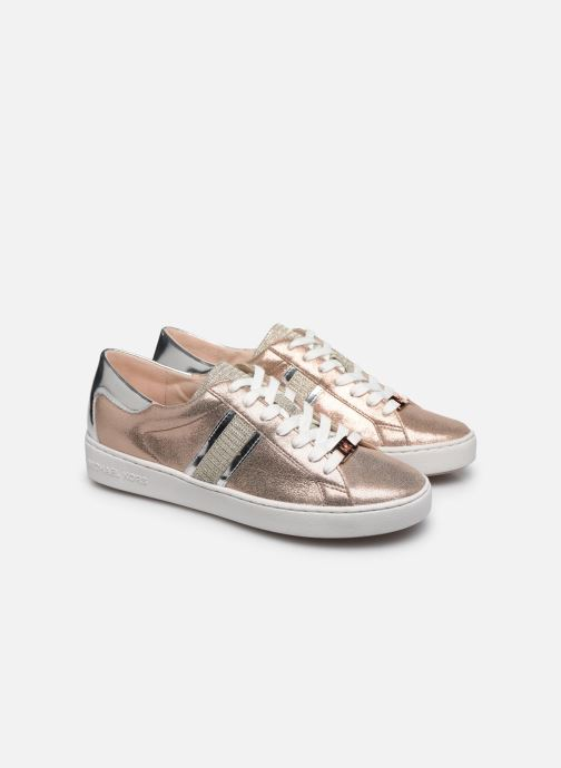 Baskets Michael Michael Kors Keaton Stripe Sneaker Rose vue 3/4