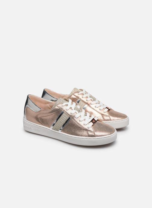 Deportivas Michael Michael Kors Keaton Stripe Sneaker Rosa vista 3/4