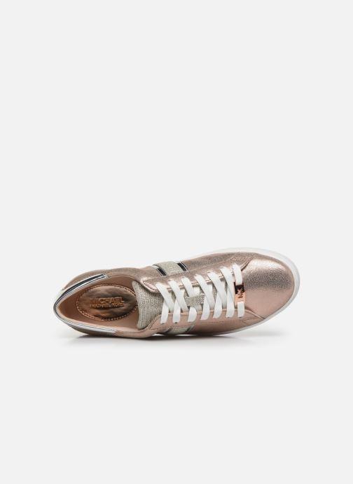 Deportivas Michael Michael Kors Keaton Stripe Sneaker Rosa vista lateral izquierda