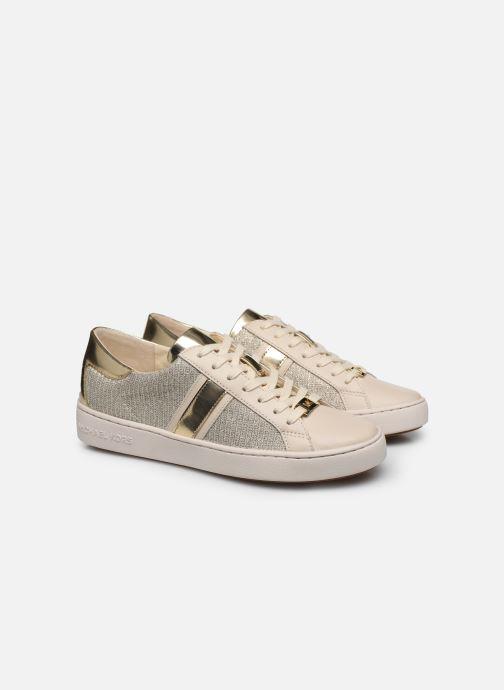 Baskets Michael Michael Kors Keaton Stripe Sneaker Beige vue 3/4