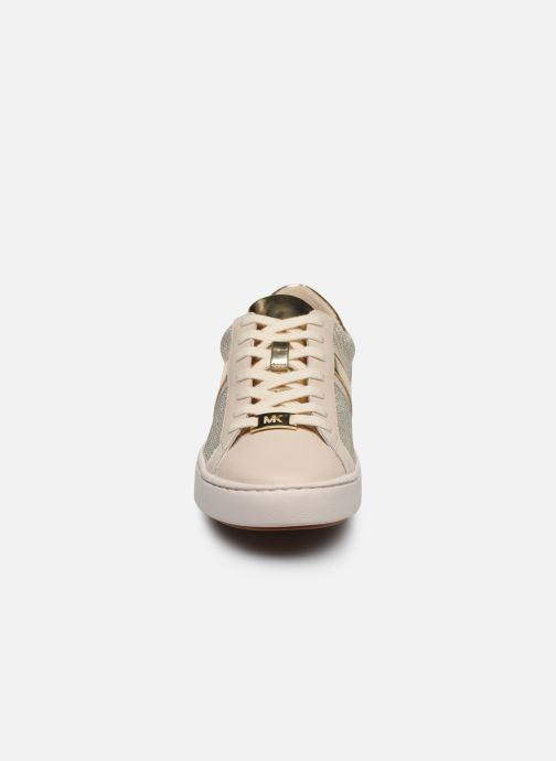 Baskets Michael Michael Kors Keaton Stripe Sneaker Beige vue portées chaussures