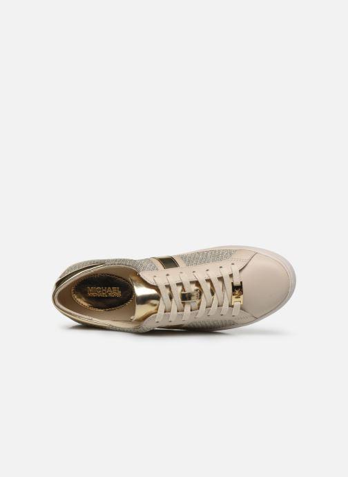 Baskets Michael Michael Kors Keaton Stripe Sneaker Beige vue gauche