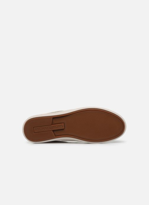 Baskets Michael Michael Kors Keaton Stripe Sneaker Beige vue haut