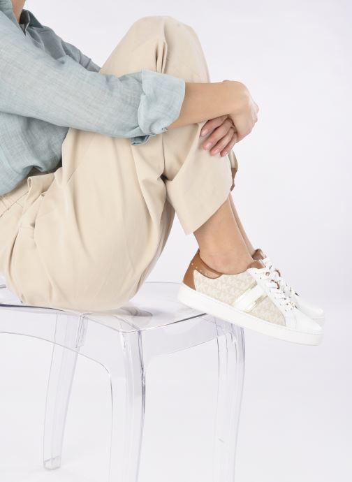Sneakers Michael Michael Kors Keaton Stripe Sneaker Beige immagine dal basso