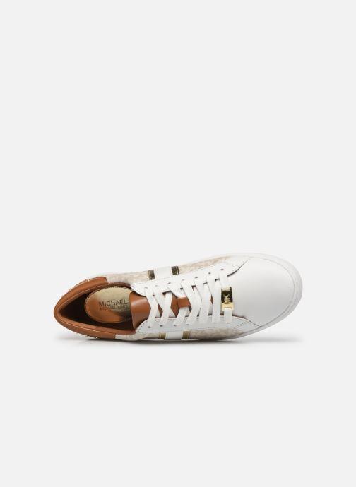 Sneakers Michael Michael Kors Keaton Stripe Sneaker Beige immagine sinistra
