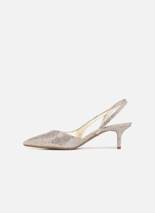 Zapatos de tacón Michael Michael Kors Eliza Flex Kitten Pump Oro y bronce vista de frente
