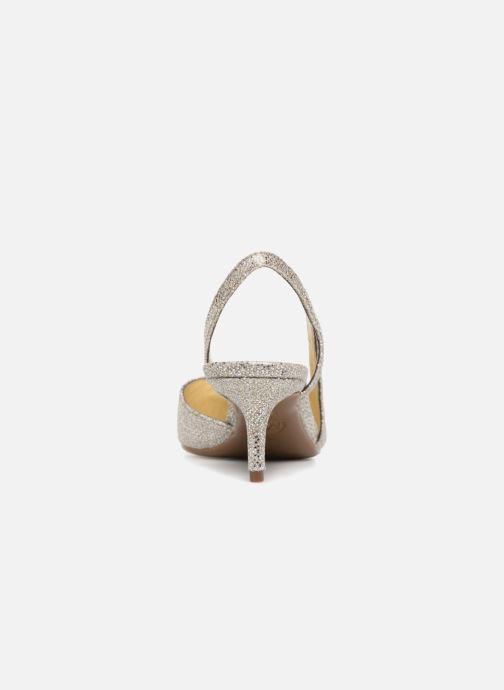 Zapatos de tacón Michael Michael Kors Eliza Flex Kitten Pump Oro y bronce vista lateral derecha