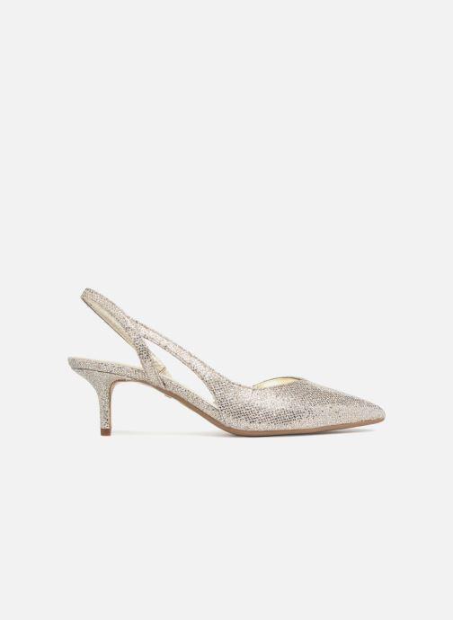 Zapatos de tacón Michael Michael Kors Eliza Flex Kitten Pump Oro y bronce vistra trasera