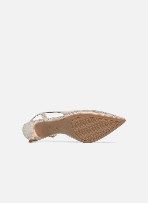 Zapatos de tacón Michael Michael Kors Eliza Flex Kitten Pump Oro y bronce vista de arriba
