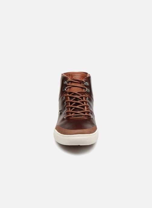 Baskets Lacoste Explorateur Classic 318 1 Marron vue portées chaussures