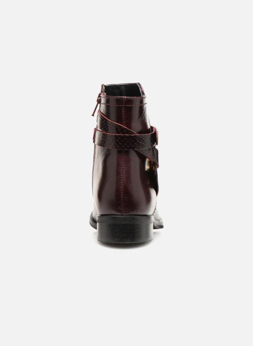 Bottines et boots Georgia Rose Louana Bordeaux vue droite