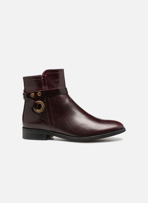Bottines et boots Georgia Rose Louana Bordeaux vue derrière