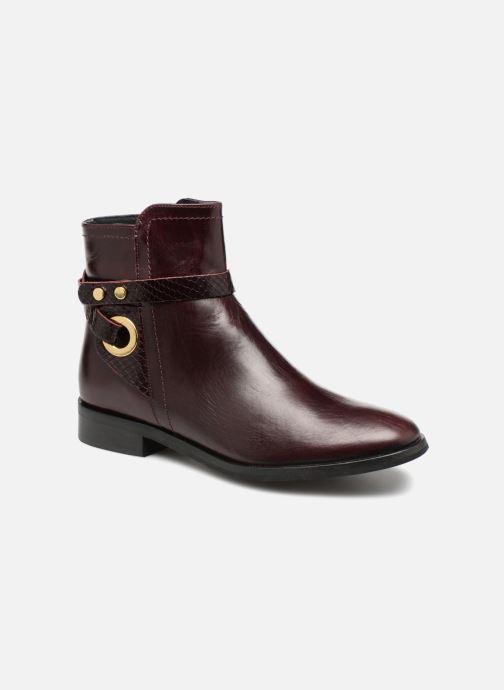 Bottines et boots Georgia Rose Louana Bordeaux vue détail/paire