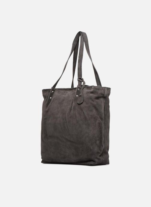 Handtaschen Esprit Ginger Shopper grau schuhe getragen