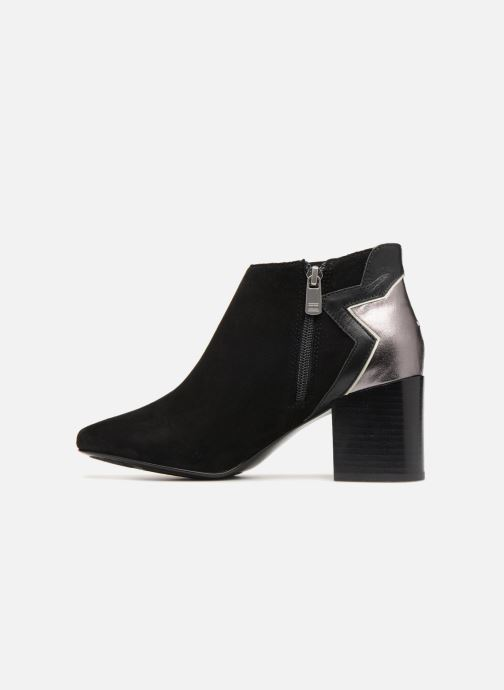 Bottines et boots Tommy Hilfiger ELEVATED SUEDE HEELED BOOTIE Noir vue face