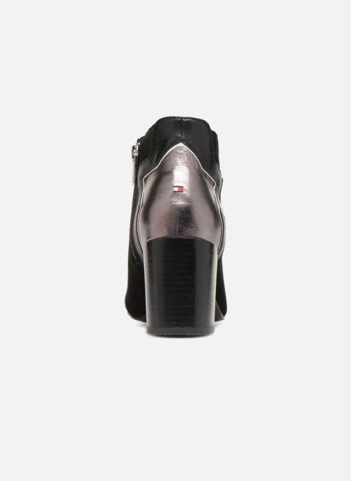 Bottines et boots Tommy Hilfiger ELEVATED SUEDE HEELED BOOTIE Noir vue droite