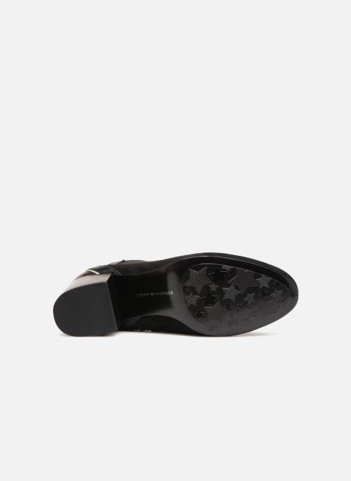 Bottines et boots Tommy Hilfiger ELEVATED SUEDE HEELED BOOTIE Noir vue haut