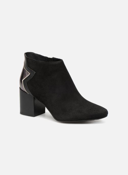 Bottines et boots Tommy Hilfiger ELEVATED SUEDE HEELED BOOTIE Noir vue détail/paire