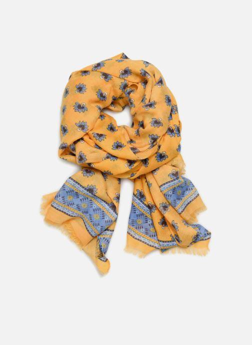 Halsduk och scarf Esprit Indian Flower Scarf Gul detaljerad bild på paret
