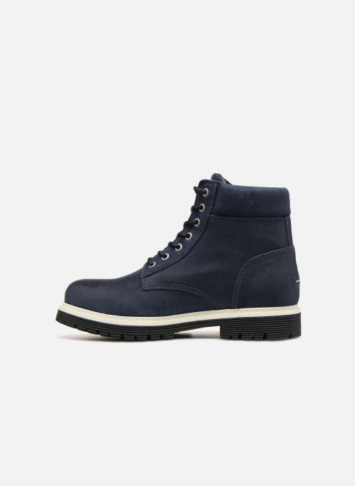 Bottines et boots Tommy Hilfiger ICONIC TOMMY JEANS SUEDE BOOT Bleu vue face