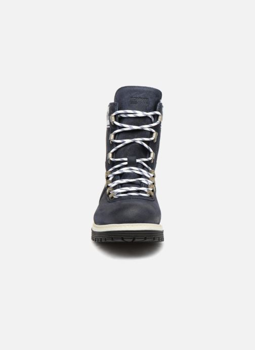 Bottines et boots Tommy Hilfiger TOMMY JEANS CANVAS SUEDE BOOT Bleu vue portées chaussures