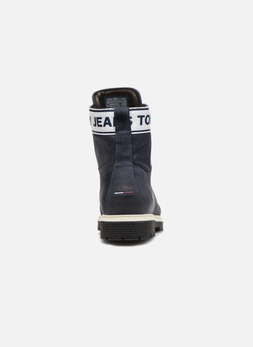 Bottines et boots Tommy Hilfiger TOMMY JEANS CANVAS SUEDE BOOT Bleu vue droite
