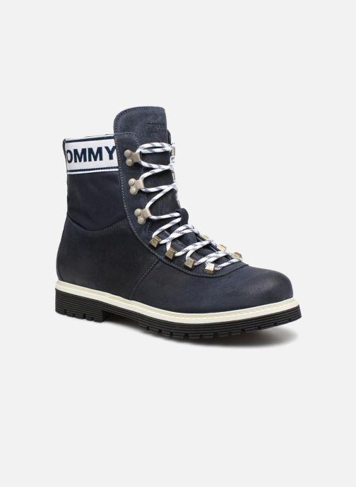Bottines et boots Tommy Hilfiger TOMMY JEANS CANVAS SUEDE BOOT Bleu vue détail/paire
