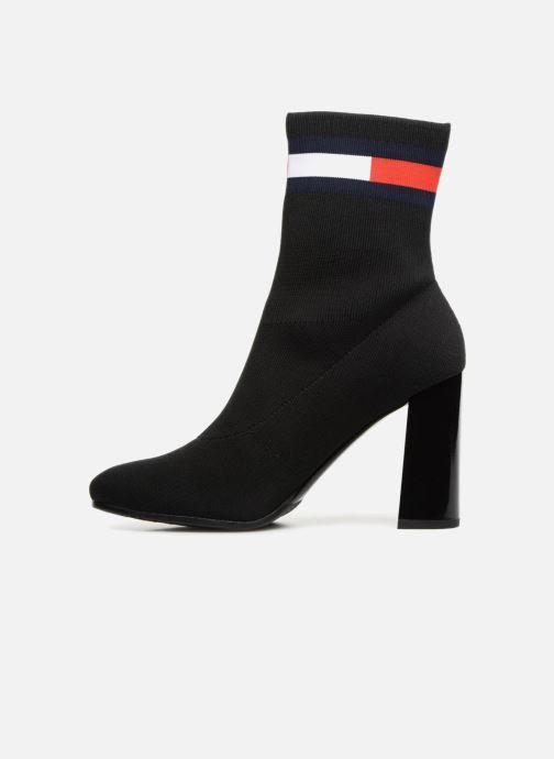 Bottines et boots Tommy Hilfiger SOCK HEELED BOOT Noir vue face