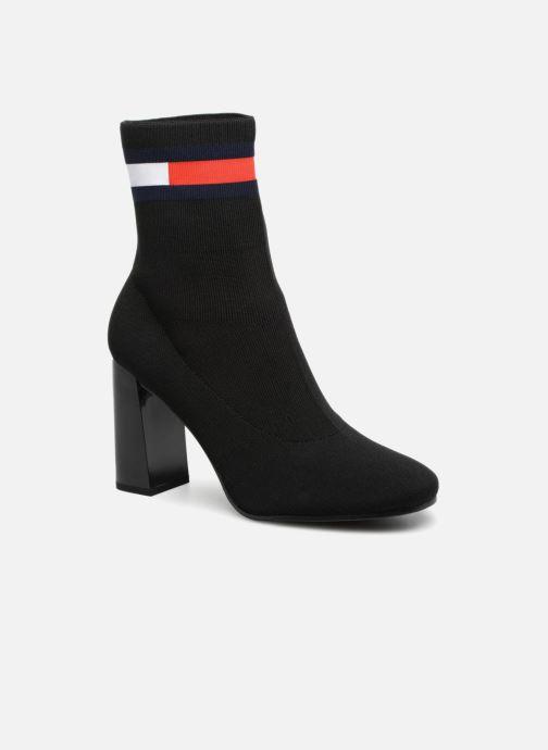 Bottines et boots Tommy Hilfiger SOCK HEELED BOOT Noir vue détail/paire