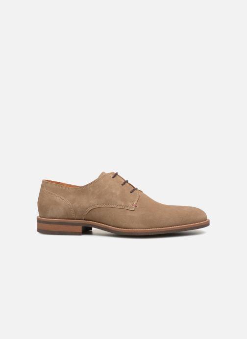 Chaussures à lacets Tommy Hilfiger ESSENTIAL SUEDE LACE UP DERBY Beige vue derrière