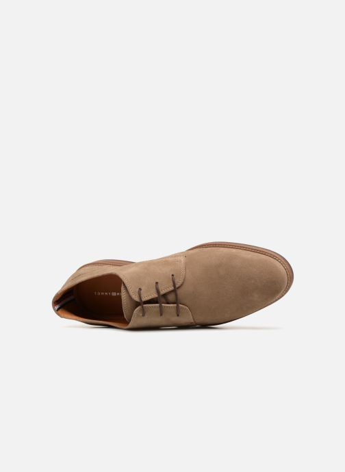 Chaussures à lacets Tommy Hilfiger ESSENTIAL SUEDE LACE UP DERBY Beige vue gauche